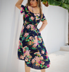 Casual Plus Size Floral Patterned Summer Dress