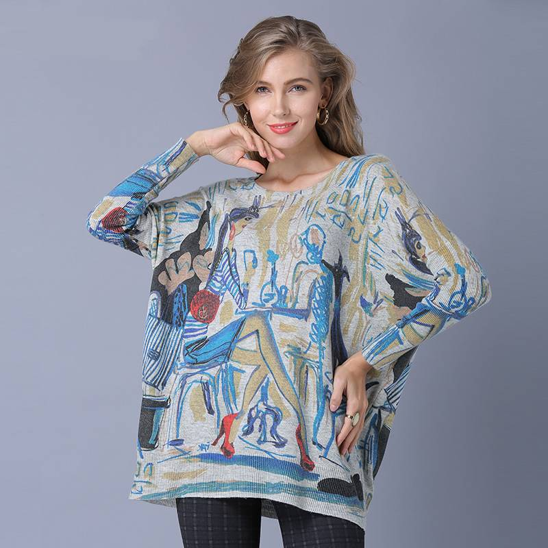 Casual Long Sleeve Vintage Pullover Sweater