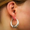 Sterling silver ethnic earring