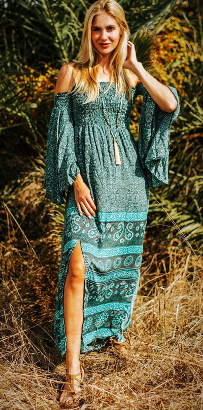 Stylish Silk Boho Summer Dress