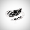 SILVER FEATHER PAWS ADJUSTABLE RING