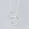 DOUBLE CIRCLE INTERLOCK CLAVICLE SHORT NECKLACE