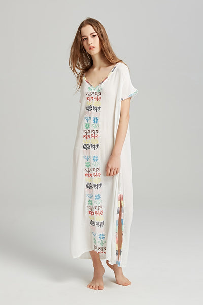 Casual Boho Patterned Summer Maxi Dress