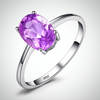 SILVER SOLITAIRE GEMSTONE TOPAZ RING