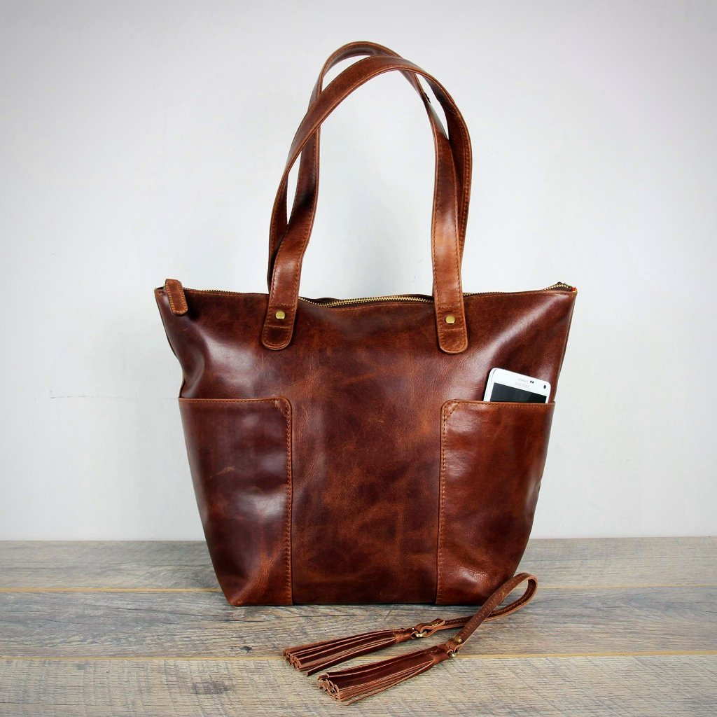 Leather Tote Shoulder Bag