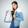 LARGE RACCOON FUR COLLAR COAT