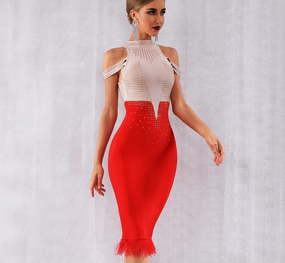 Stylish Bodycon Bandage Party Dress