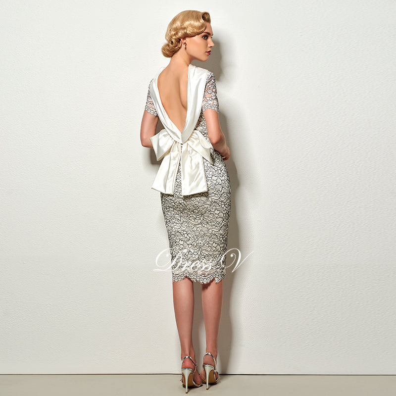 Backless vintage  cocktail dress