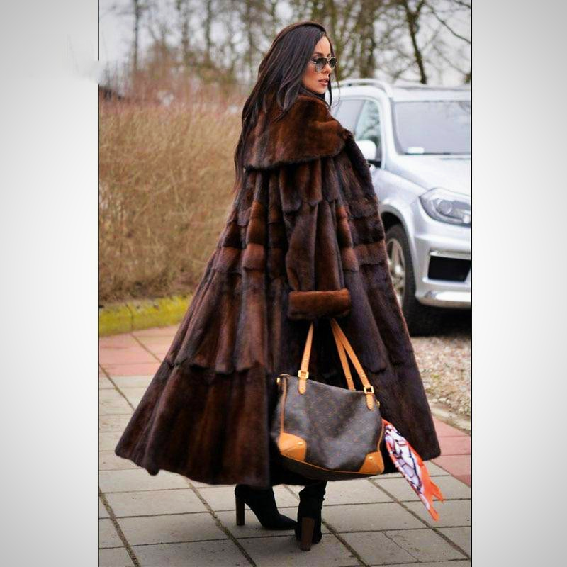 LUXURY NATURE FUR COAT
