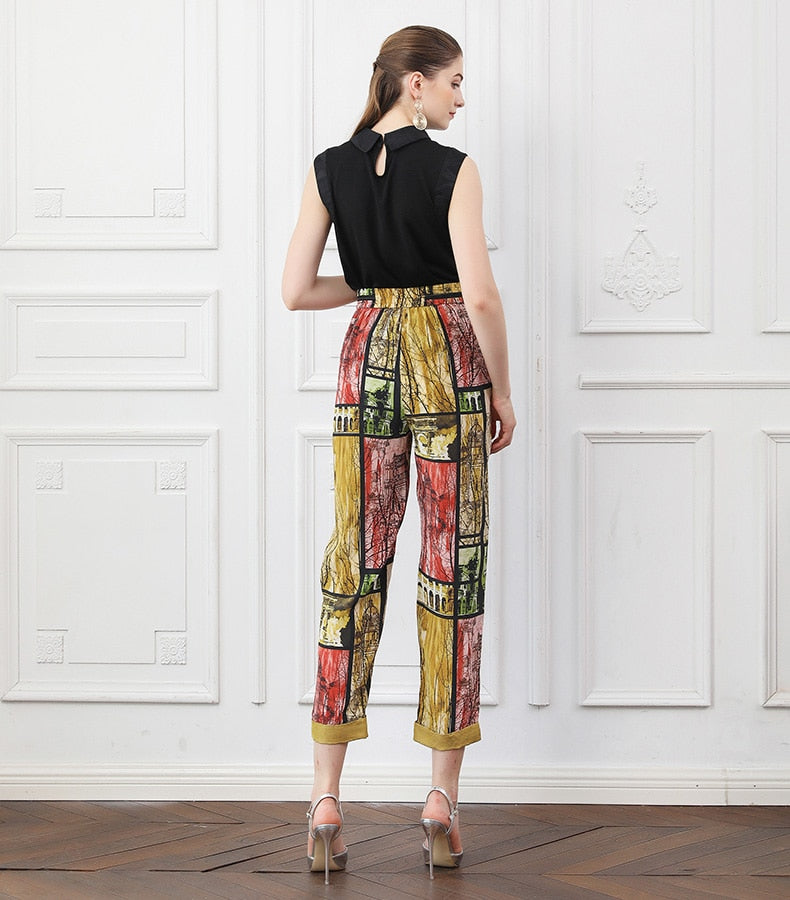 Silk Harem Pants
