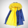 PARKA LONG DENIM REAL FUR COAT