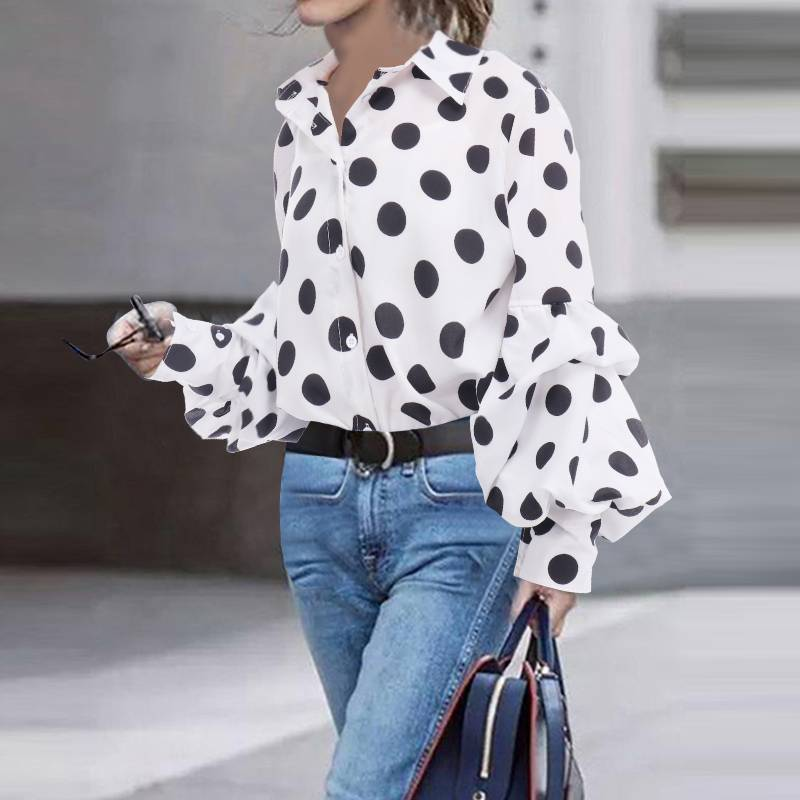 RETRO LOOSE POLKA DOT TOP