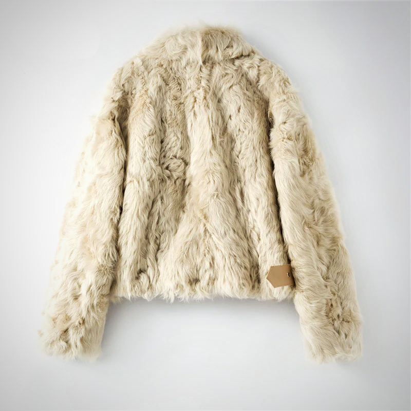 Real sheep fur overcoat