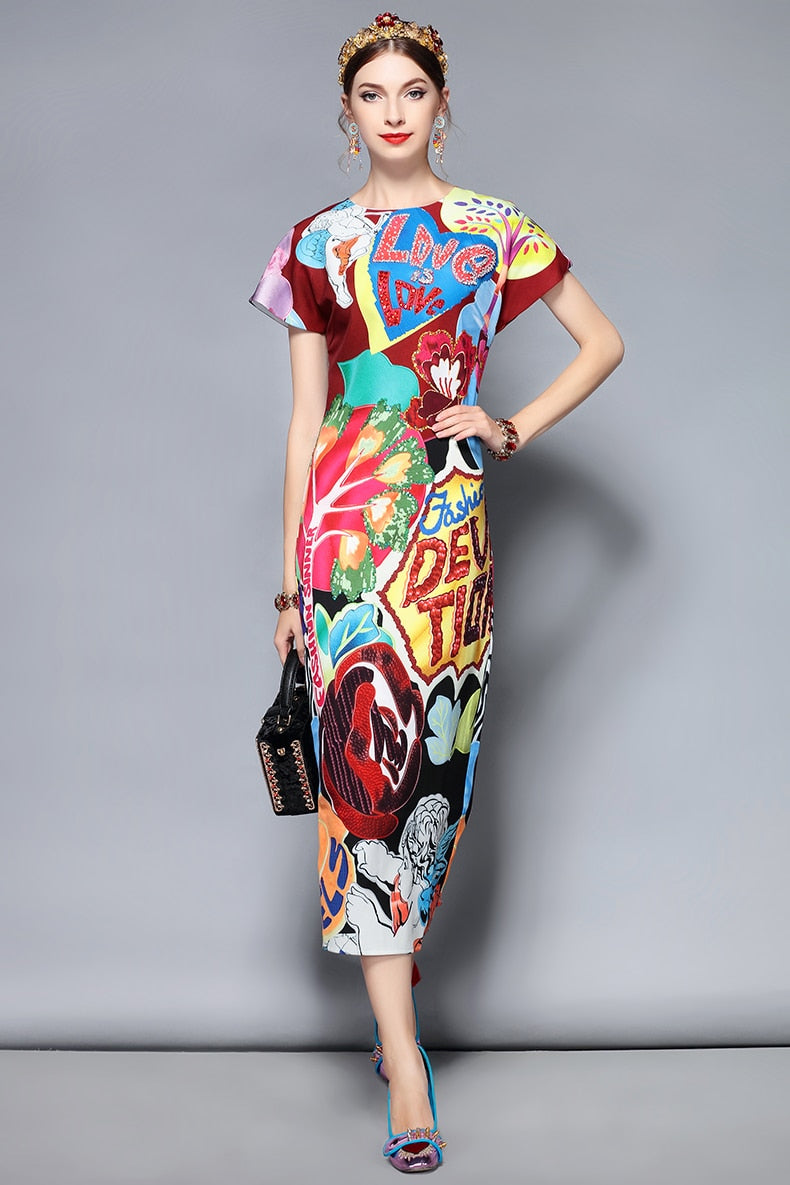 Printed Summer Dress