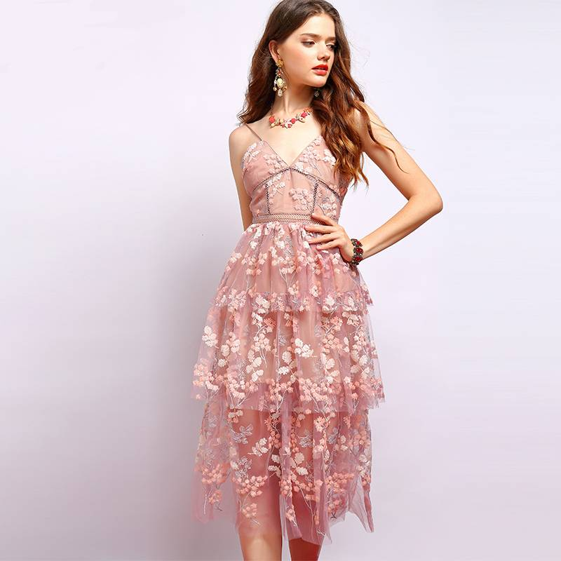 Casual Floral Vintage Summer Dress