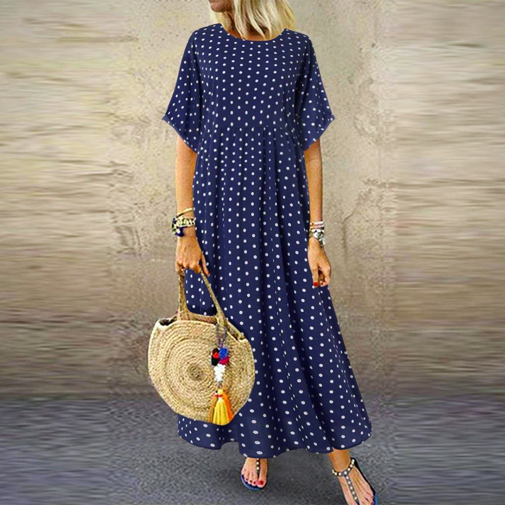 O NECK LONG MAXI DRESS
