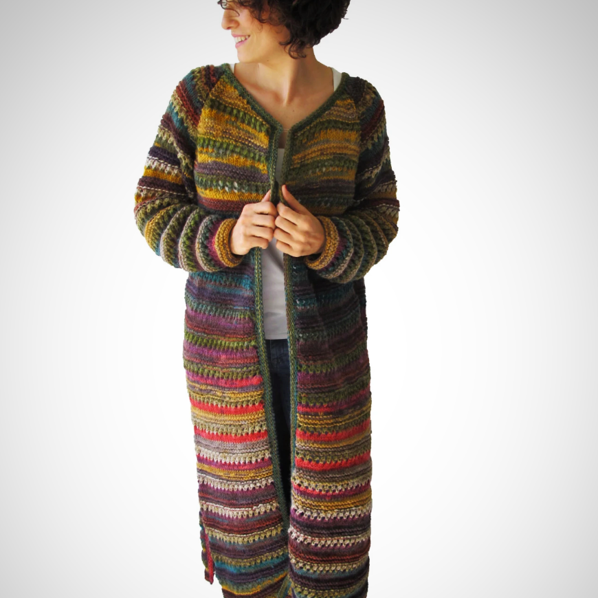 Hand Knitted Maxi Cardigan