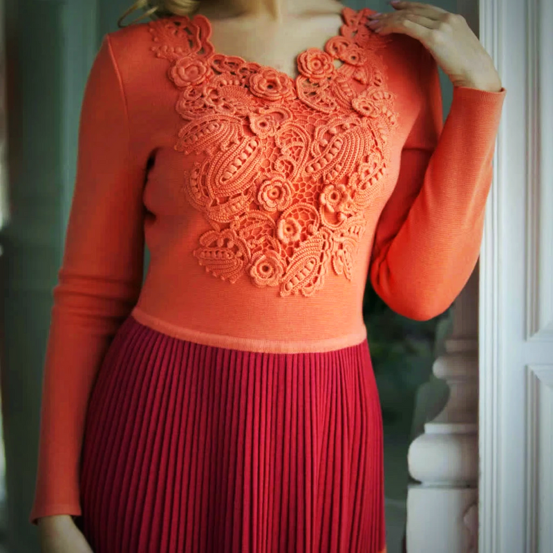 Knitted coral dress