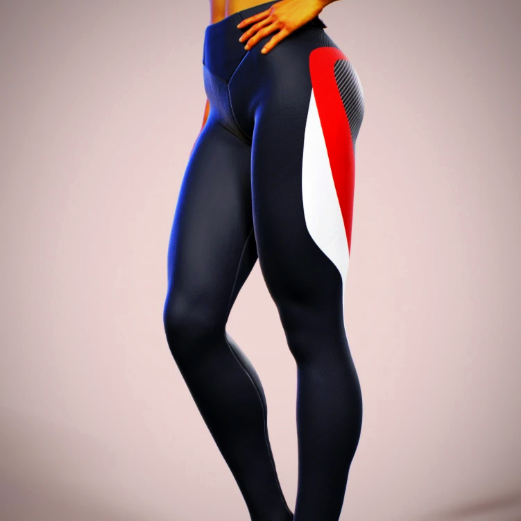 Blue Spandex Yoga Pants