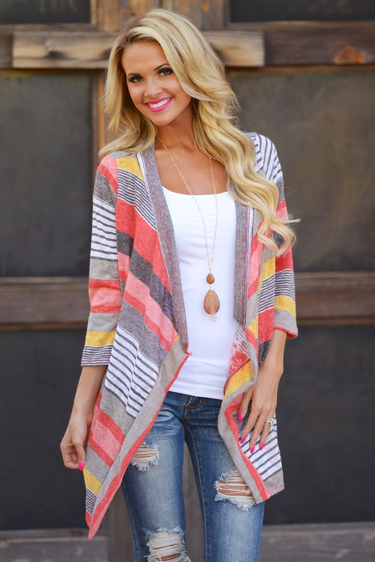 Patterned Asymmetrical Autumn Cardigan Pullover