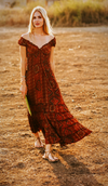 Rusty Boho Silk Summer Dress