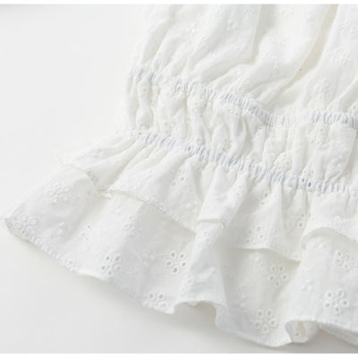 White Embroidery Vintage Top