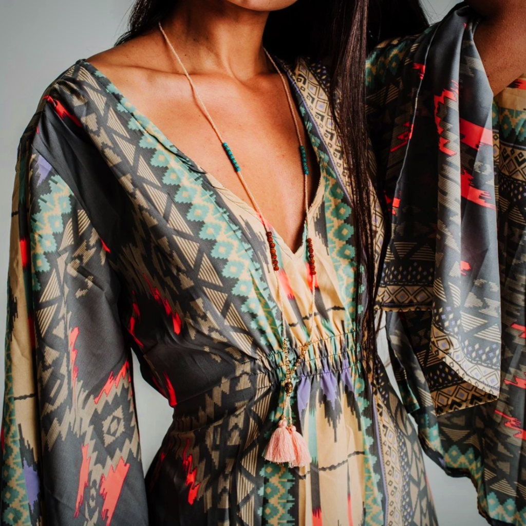 Wide Sleeves Boho Summer Dress