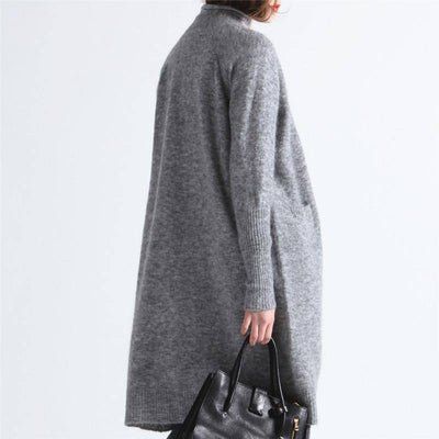 BLENDED KNITTED MOHAIR CARDIGAN