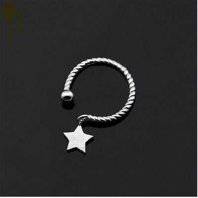 SILVER STAR PENDANT OPENING RING