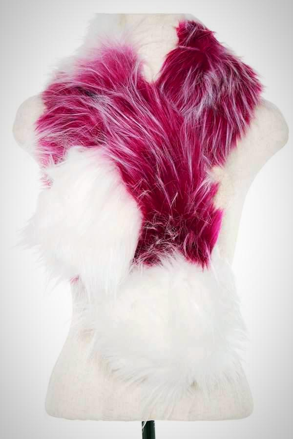 Faux Fur Two Tone Acrylic Neck Wrap