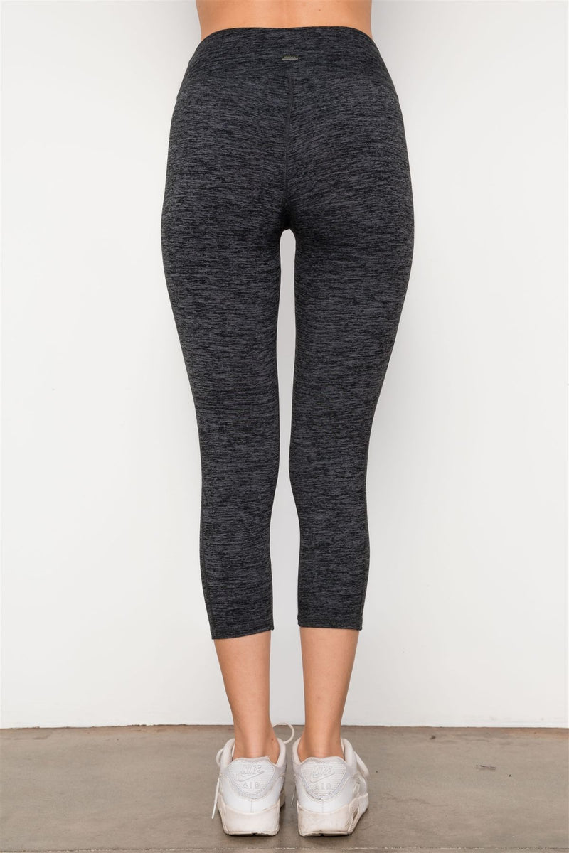 Grey Athletic Slim Fit Capri Leggings