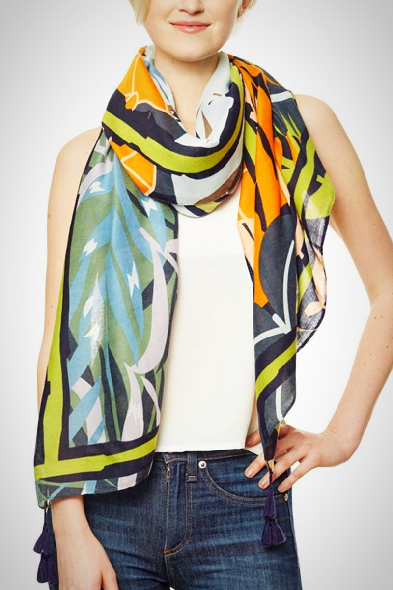 Leaf Print Multi Use Stylish Scarf