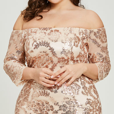 PLUS SIZE ELEGANT COCKTAIL DRESS