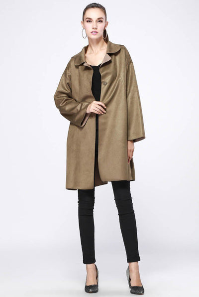 Novelty Sigle Breasted Deer Fashion Leather Coat