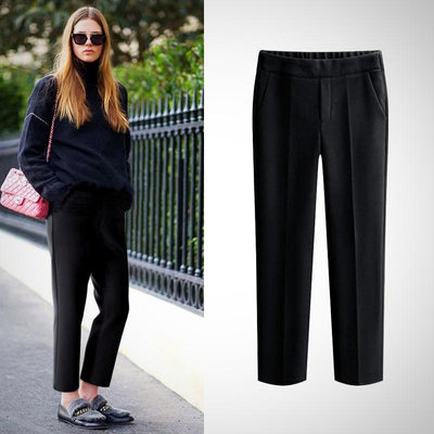 Woman Plus Size Pantalon Harem Pant Black