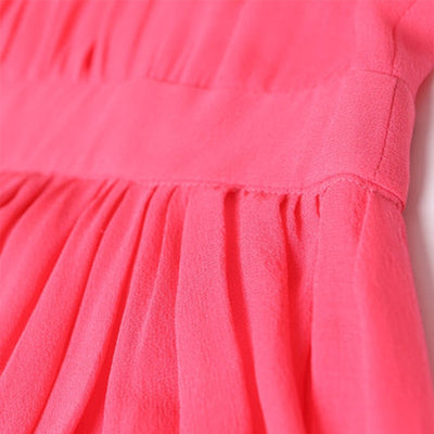 Silk  Watermelon Bohemian Dress