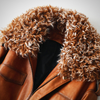GENUINE LEATHER SHEEP FUR COLLAR JACKET