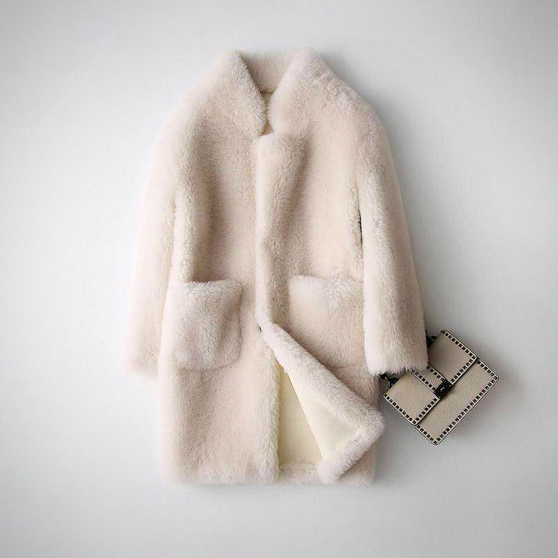 REAL WOOL FUR OVERCOAT