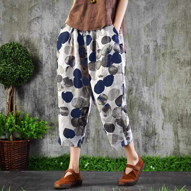 DOT PANTS LONG TROUSER