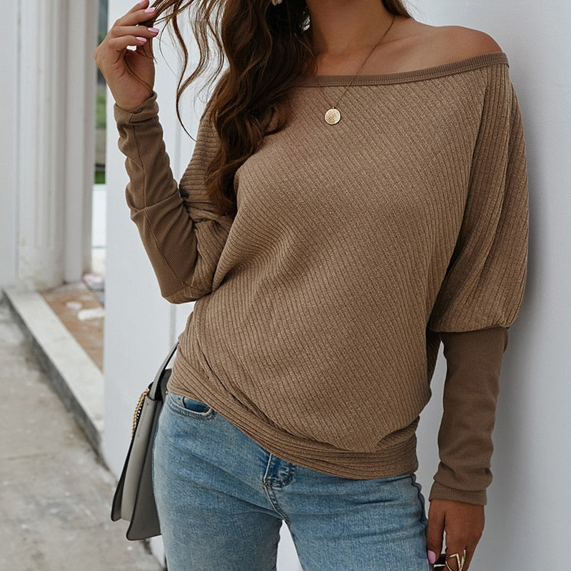 Casual Long Sleeve Autumn Pullover Knitted Sweater