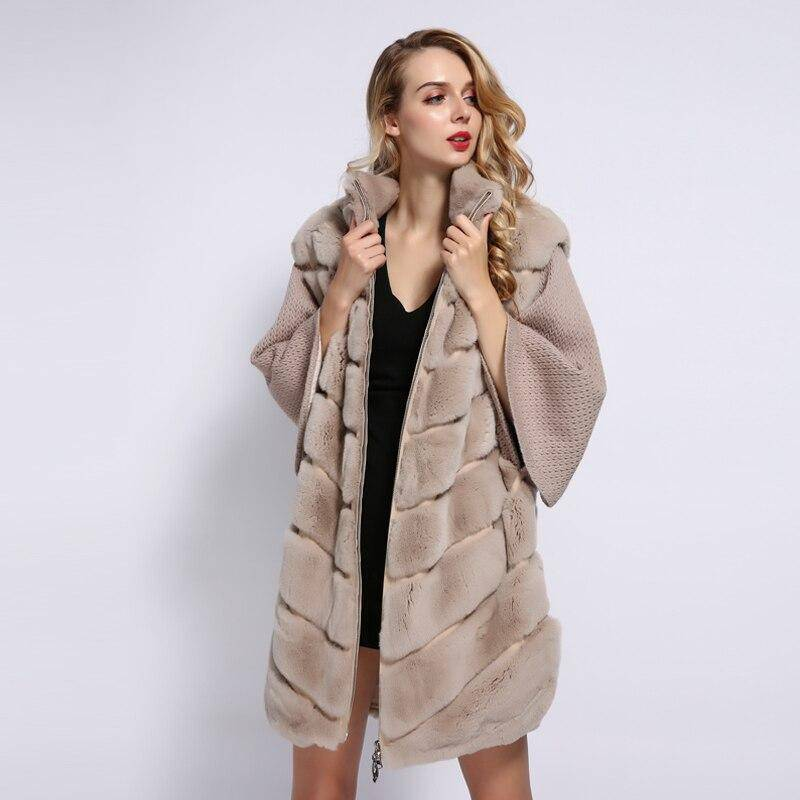 CASHMERE RABBIT FUR COAT