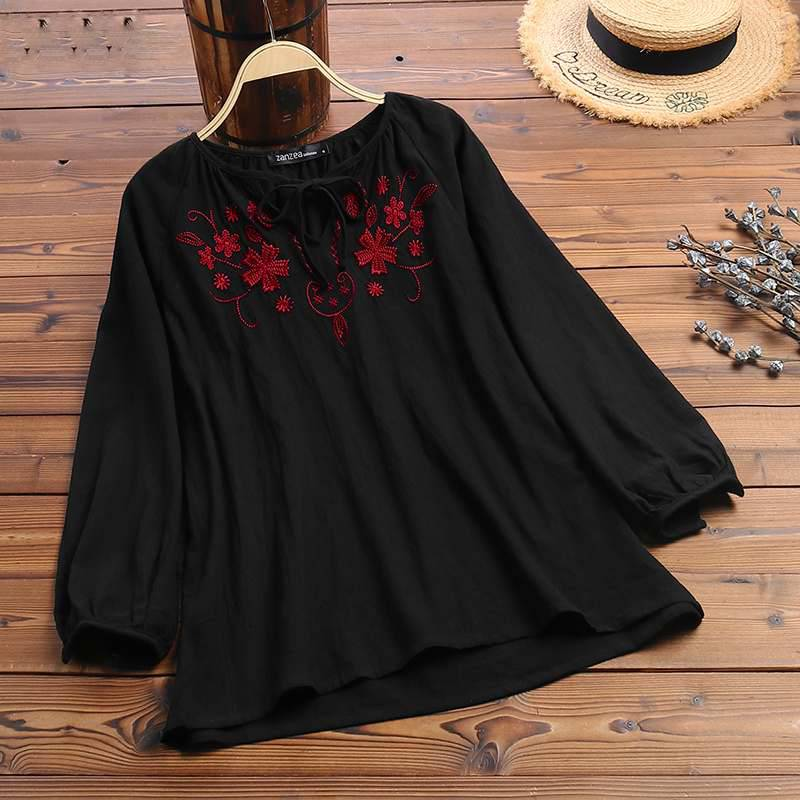 VINTAGE EMBROIDERY PLUS SIZE TOP