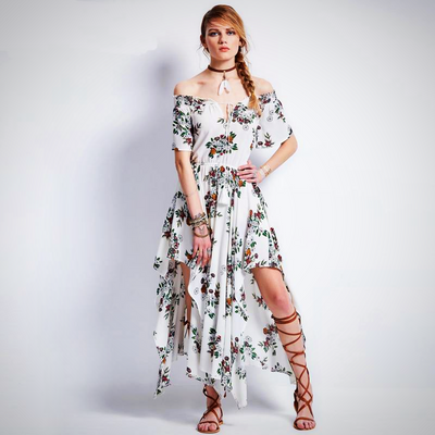 Stylish Floral Patterned Summer Maxi Dress