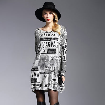 Stylish Long Sleeve Vintage Patterned Pullover