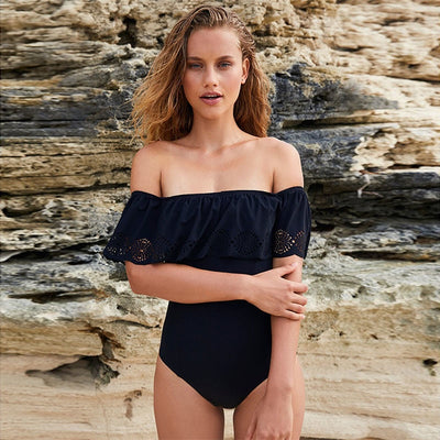 Off  Shoulder One Piece Swimsuit