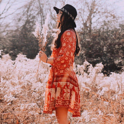 Stylish Bohemian Patterned Summer Dress
