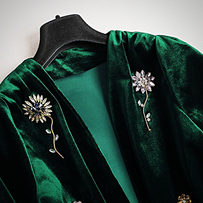 VELVET BEADED CARDIGAN JACKETS