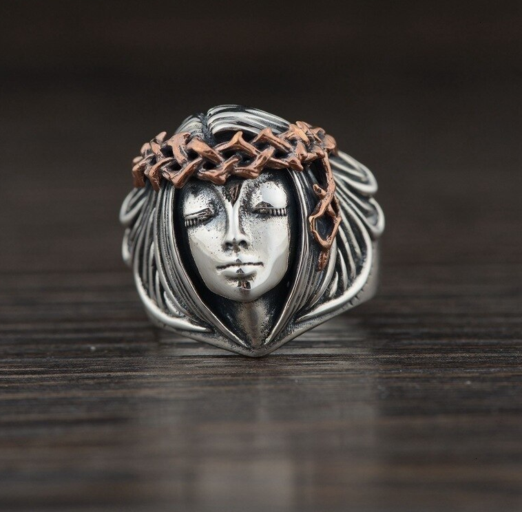 SILVER TRENDY VINTAGE RING