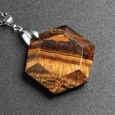 NATURAL TIGER EYE STONE NECKLACE