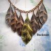 Bohemian patina leaf necklace